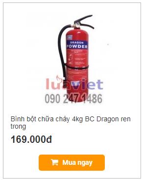 Bình bột chữa cháy 4kg BC Dragon ren trong