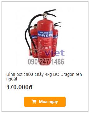 Bình bột chữa cháy 4kg BC Dragon ren ngoài