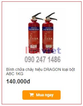 Bình chữa cháy hiệu DRAGON loại bột ABC 1KG