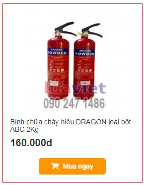 Bình chữa cháy hiệu DRAGON loại bột ABC 2Kg