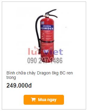 Bình chữa cháy Dragon 8kg BC ren trong