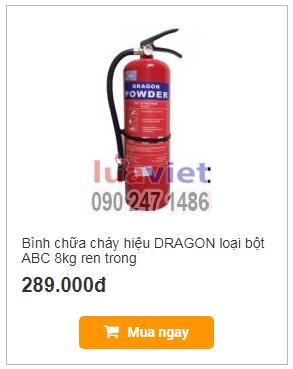 Binh chua chay dragon 8kg