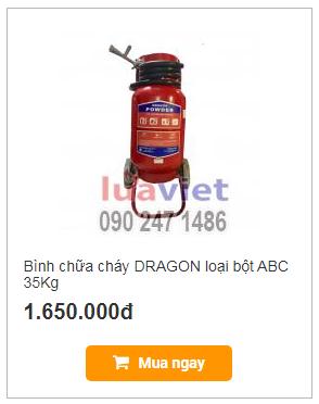 Bình chữa cháy DRAGON loại bột ABC 35Kg