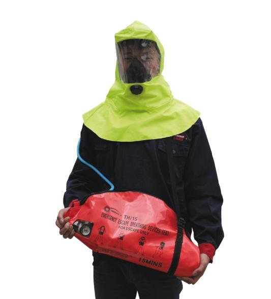 Bộ bình thở 4 món (mặt nạ, mõm thở, quay đeo, bình khí) chuyên dùng trên tàu EEBD TH/15-1