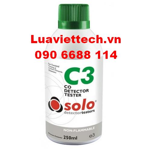 Chai thử đầu báo (Carbon Monoxide) CO SOLO-C3 chính hãng