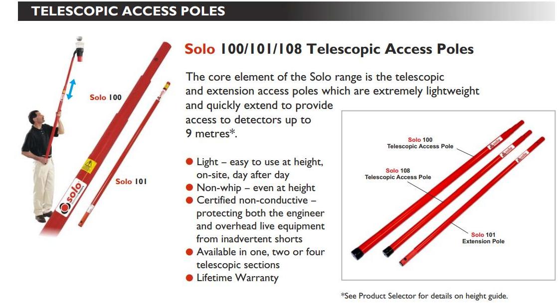 Cây tay cầm dài SOLO-100-001 4.5 m dùng với SOLO 200/ 330/ 424/ 461 chính hãng