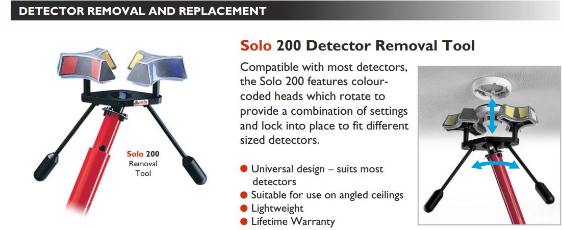 Dụng cụ tháo lắp đầu báo khói nhiệt SOLO-200-001 chính hãng