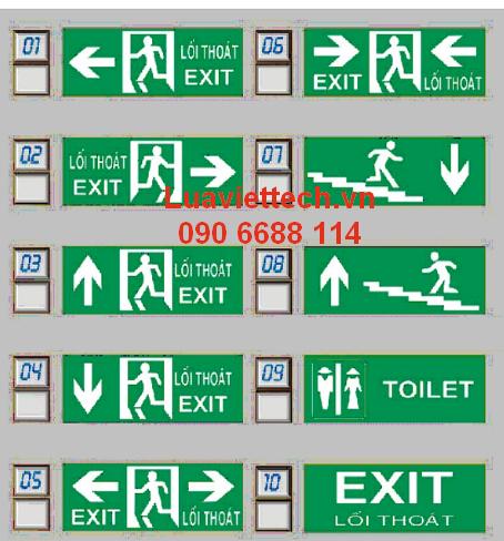 bảng exit mica, lối đi mica