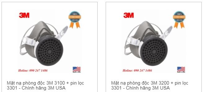 Mặt nạ phòng độc 3M chính hãng đủ 3 kích thước 6700/ 6800/ 6900