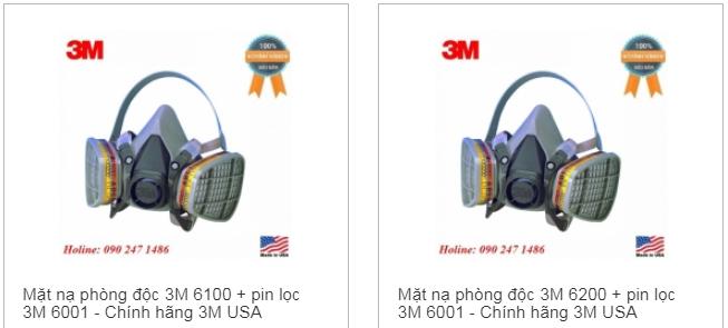 Mặt nạ phòng độc 3M chính hãng giá rẻ hơn tại Luaviettech.vn
