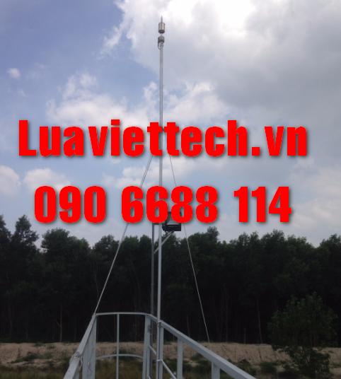 Lắp kim thu sét cho bồn xử lý nước thải KCN Amata Biên Hòa