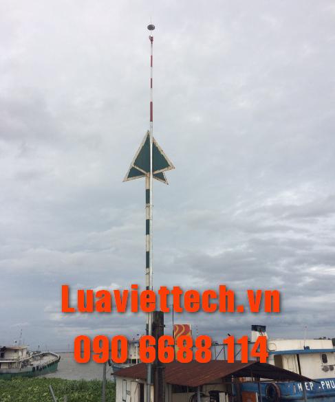 lắp đặt kim thu sét hoàn tất thành công tại Luaviettech.vn
