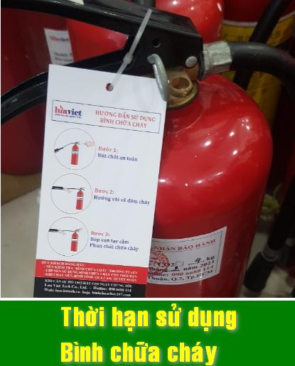 Thời hạn sử dụng bình chữa cháy cần biết
