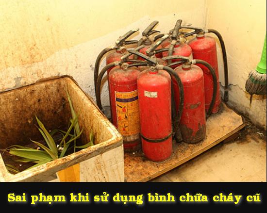 sai phạm khi sử dụng bình chữa cháy cũ