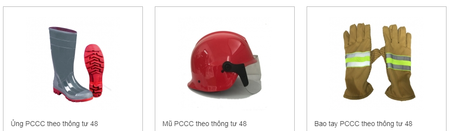 Ủng PCCC theo thông tư 48