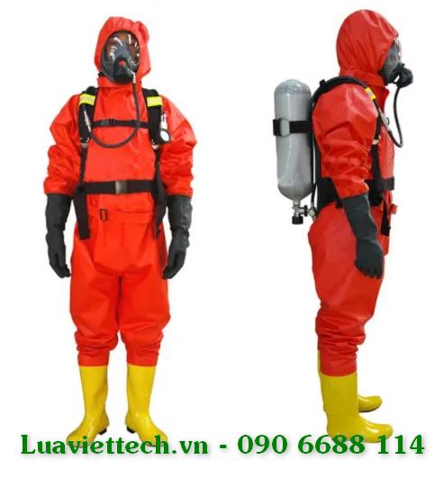 Quần áo chống hóa chất liền ủng