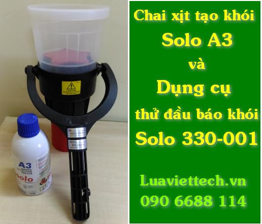 Chai bình xịt tạo khói solo A3 và dụng cụ thử test báo khói chính hãng Solo giá rẻ