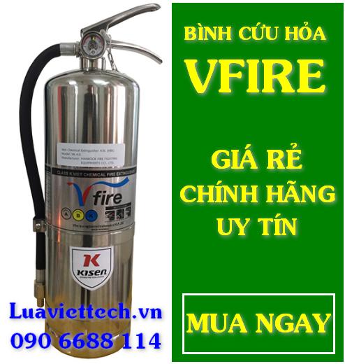 Bình chữa cháy Hàn Quốc Vfire loại K 4l VK - 4.0 chuyên dùng cho đám cháy dầu mỡ