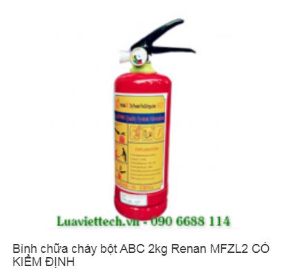 Bình chữa cháy bột ABC 2kg Renan MFZL2 CÓ KIỂM ĐỊNH