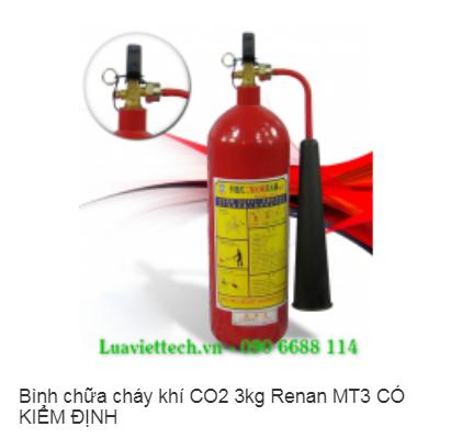 Bình chữa cháy khí CO2 3kg Renan MT3 CÓ KIỂM ĐỊNH
