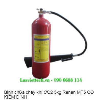 Bình chữa cháy khí CO2 5kg Renan MT5 CÓ KIỂM ĐỊNH