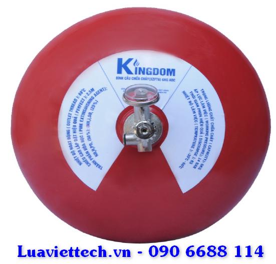 Bình chữa cháy Kingdom hình cầu dạng treo XZFT6, 6kg có tem kiểm định