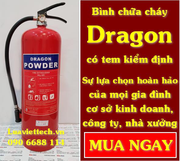 Bình chữa cháy DRAGON loại bột ABC CÓ KIỂM ĐỊNH