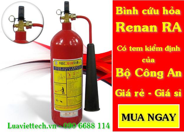 Bình cứu hỏa Renan RA giá sỉ giá rẻ có tem kiểm định của Bộ Công An