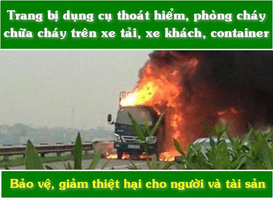 trang bị bình chữa cháy cho xe tải xe khách container