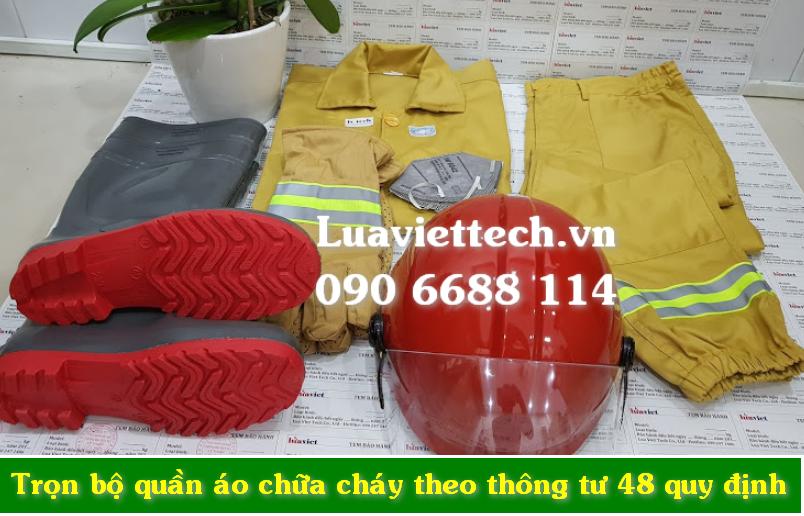 Trọn bộ trang phục quần áo chữa cháy thông tư 48 giá rẻ giá sỉ tại Đồng Nai