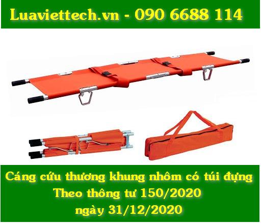Cáng cứu thương khung nhôm màu cam có túi đựng theo thông tư 150/2020 ngày 31/12/2020 taïi tphcm