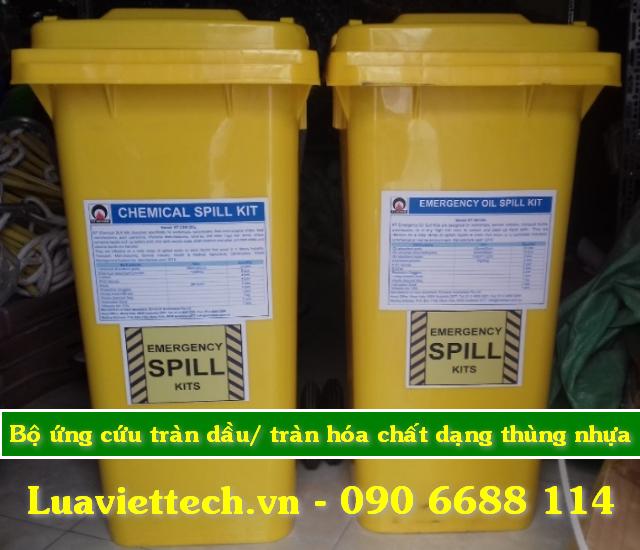Bộ ứng cứu tràn dầu, hóa chất, axit, dung dịch ăn mòn đóng gói dạng thùng nhựa