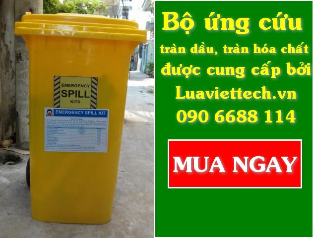 Bộ ứng cứu tràn dầu, tràn hóa chất, tấm thấm dầu,hóa chất và bột thấm dầu hóa chất giá sỉ