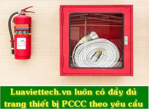 đầy đủ các trang thiết bị pccc theo yêu cầu