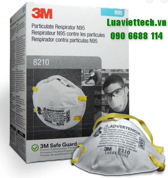 Khẩu trang 3M 8210 N95 lọc bụi, ngăn giọt bắn, virut - chính hãng 3M USA