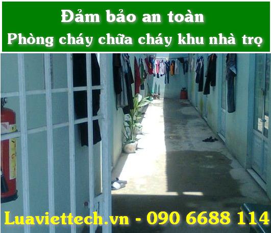 an toàn pccc cho khu nhà trọ với bình cứu hỏa pccc từ luaviettech.vn