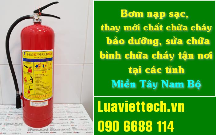 Nạp sạc bình phòng cháy chữa cháy PCCC thu gom tận nơi ở Cần Thơ, miền Tây Nam Bộ