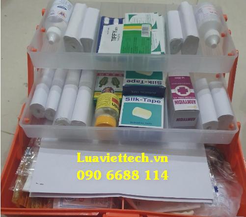 Túi sơ cấp cứu, túi cứu thương chuyên dụng, túi y tế loại A cho 25 người (Màu đỏ)