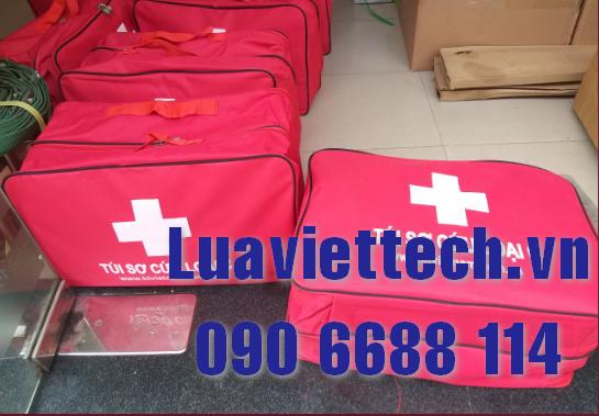 Túi sơ cấp cứu, túi cứu thương chuyên dụng, túi y tế loại C dưới 150 người (Màu đỏ)