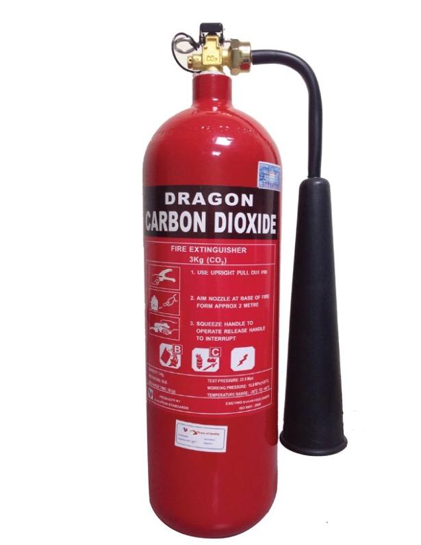 Bình chữa cháy hiệu DRAGON loại khí CO2 3kg