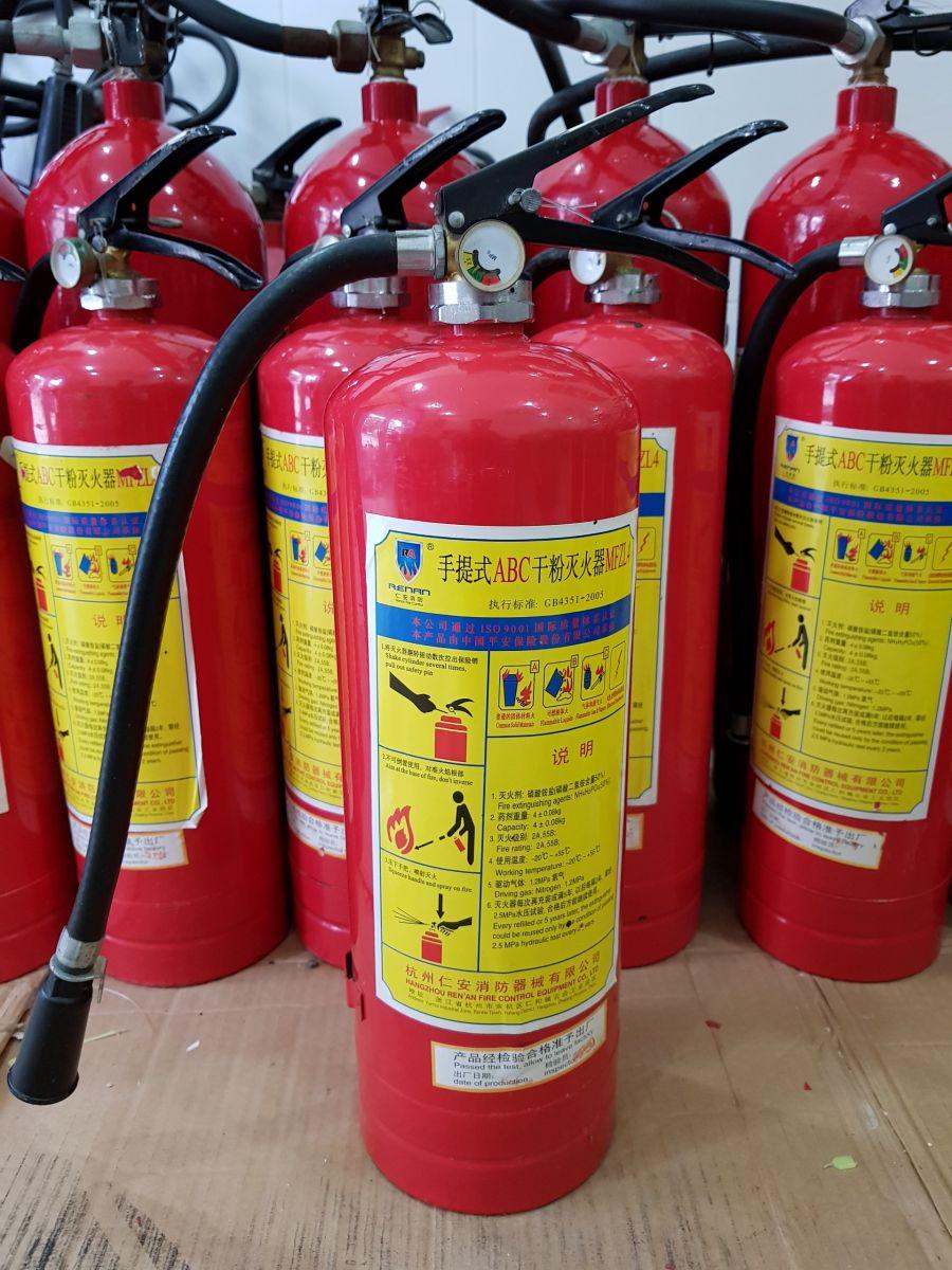 binh chữa cháy mfz4 bột abc 4 kg