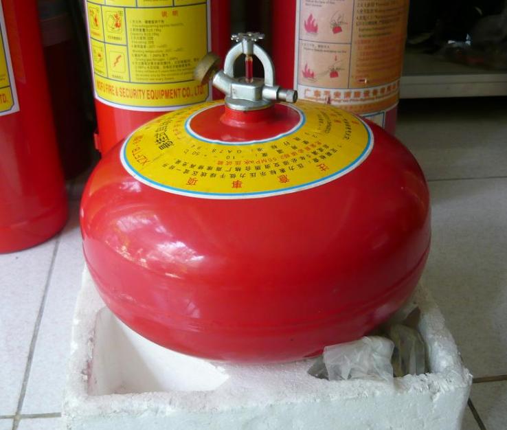 bình chữa cháy hình cầu