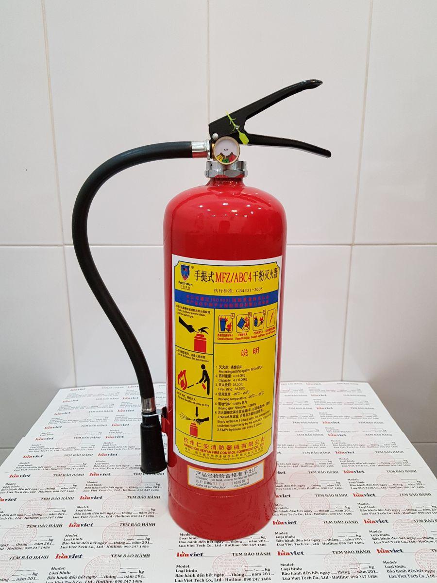 Bình chữa cháy MFZL4 bột ABC 4kg Quận 1 giao hàng tận nơi tphcm