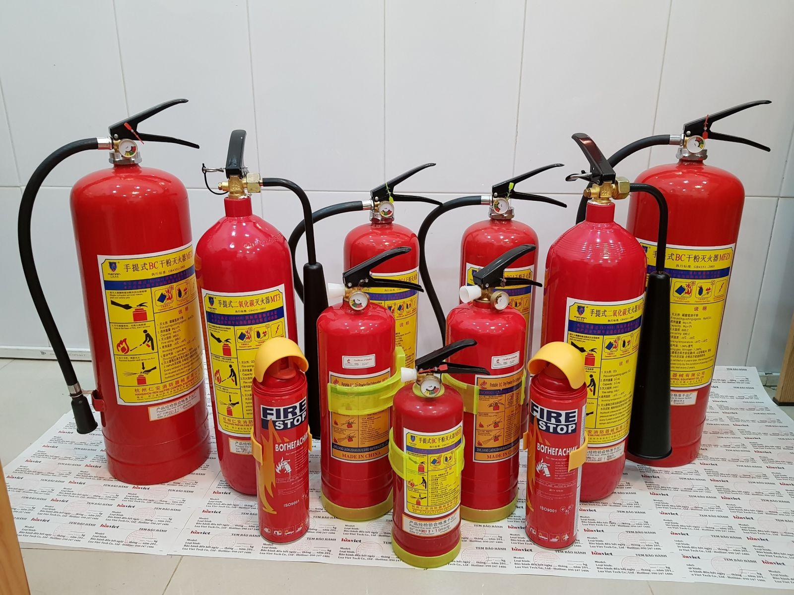 chọn bình chữa cháy loại nào cho phù hợp