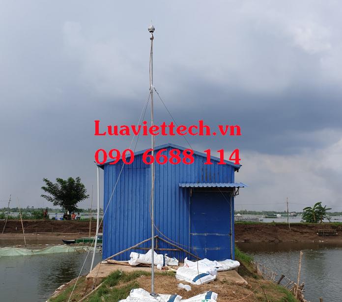 công trình lắp đặt kim thu sét hoàn tất của Luaviettech.vn