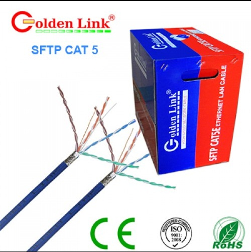 Dây cáp mạng GOLDENLINK SFTP CAT5e PLATINUM, 4 pair, 24 AWG