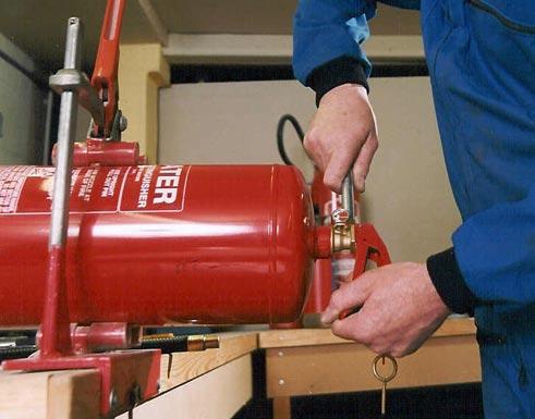 nạp khí co2 cho bình chữa cháy