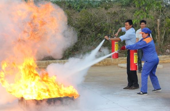 sử dụng bình chữa cháy